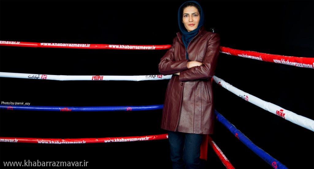 الهه منصوریان قهرمان کیک بوکسینگ جهان را شکست داد