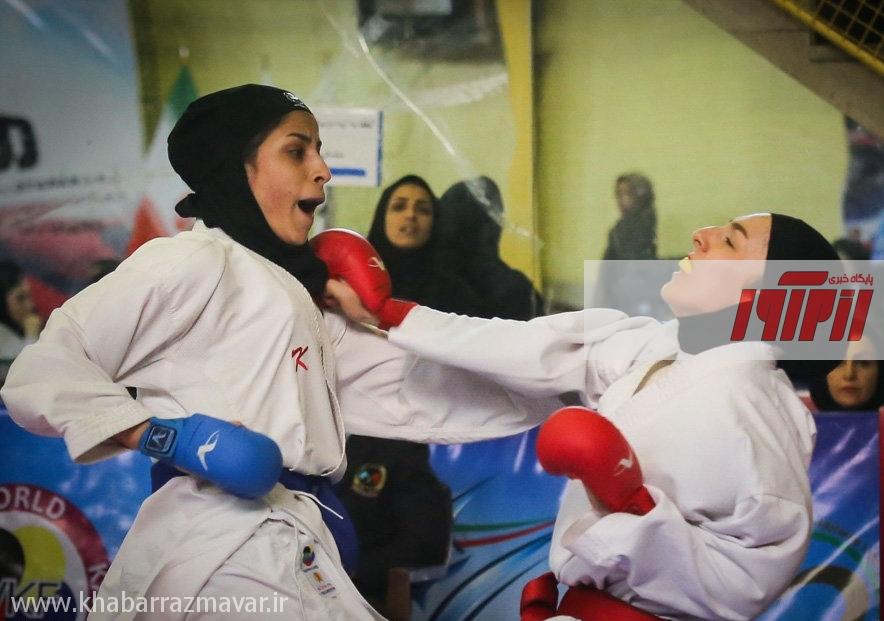 صدرنشینی دانشگاه پیام نور و مقاومت بسیج در سوپر لیگ کاراته بانوان