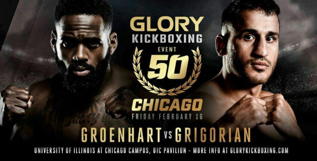 مبارزه انتقامی گرونهارت و گریگوریان در GLORY 50 شیکاگو