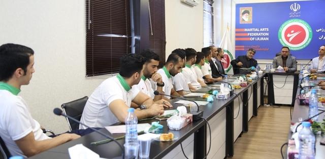 مراسم بدرقه تیم های ملی فدراسیون ورزش های رزمی به بازی های آسیایی