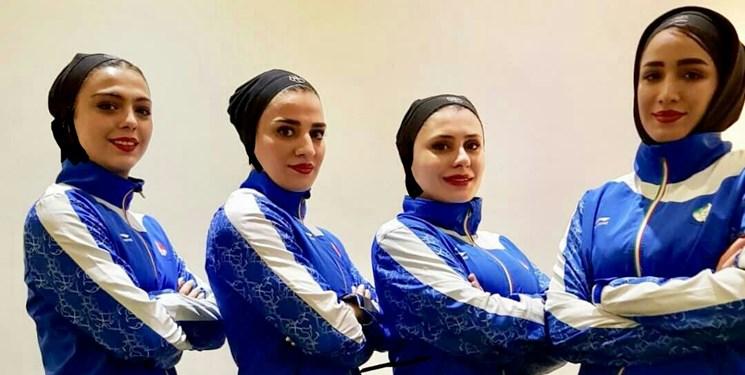 مدال نقره لیگ جهانی به کاتای تیمی بانوان ایران رسید