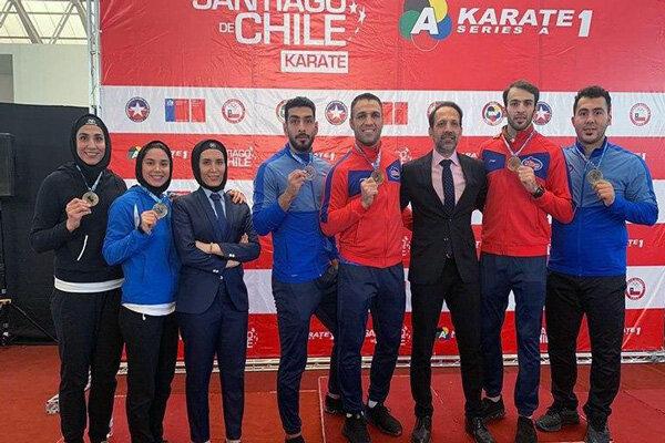 تقدیم عنوان قهرمانی کاراتهوان شیلی به سردار سلیمانی و جانباختگان