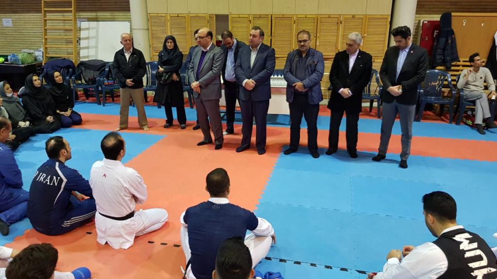 دکتر علی نژاد در تمرین تیم ملی کاراته